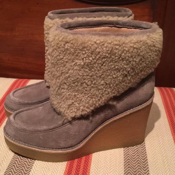 6bc253d3ccc Ugg Women's Coldin Grey Wool Block Heel Booties